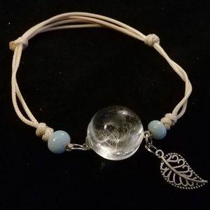 Dandelion seed wish bracelet